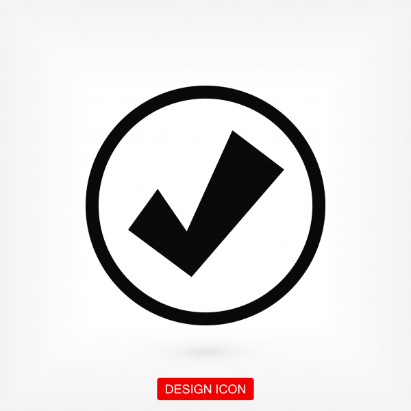 Confirm icon. Stock vector illustration