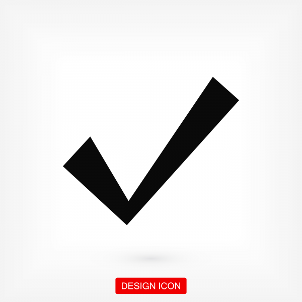Confirm icons. Stock vector illustration