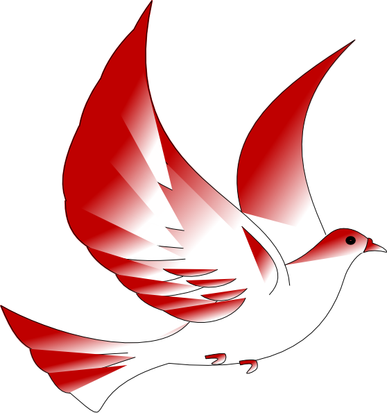 Vector doves cross. Free confirmation clipart download