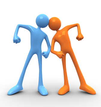 conflict clipart feud