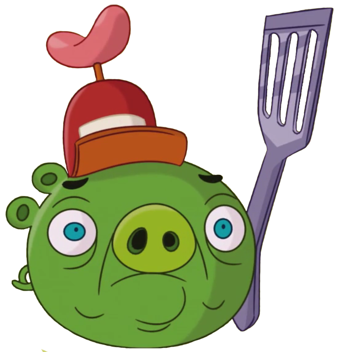 Confused bird png. Hot dog pig angry