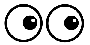 Scary eyes png. Confused image