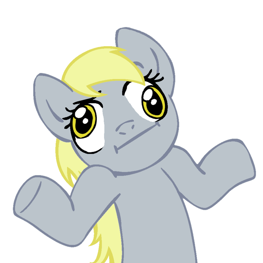 Confused derp png. Shrugpony derpy hooves by