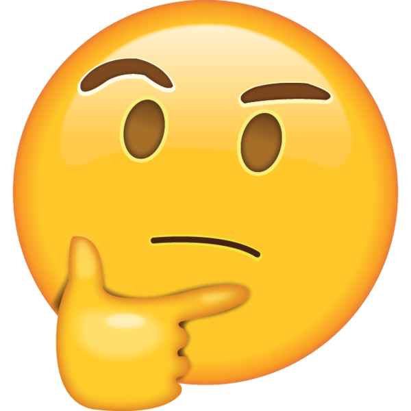 Thinking face emoji png