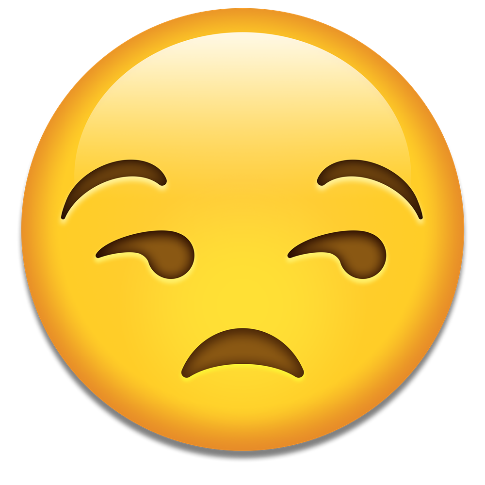 Confused emoji png transparent background