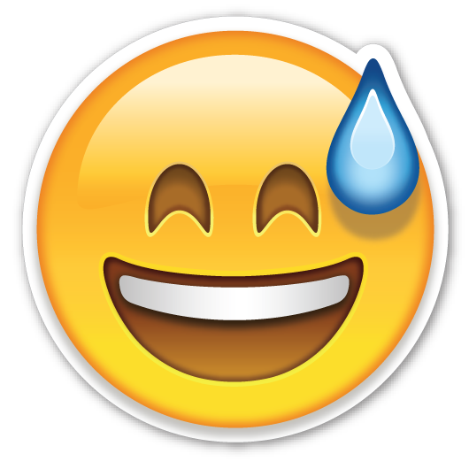 Confused emojis png. Smiling face with open
