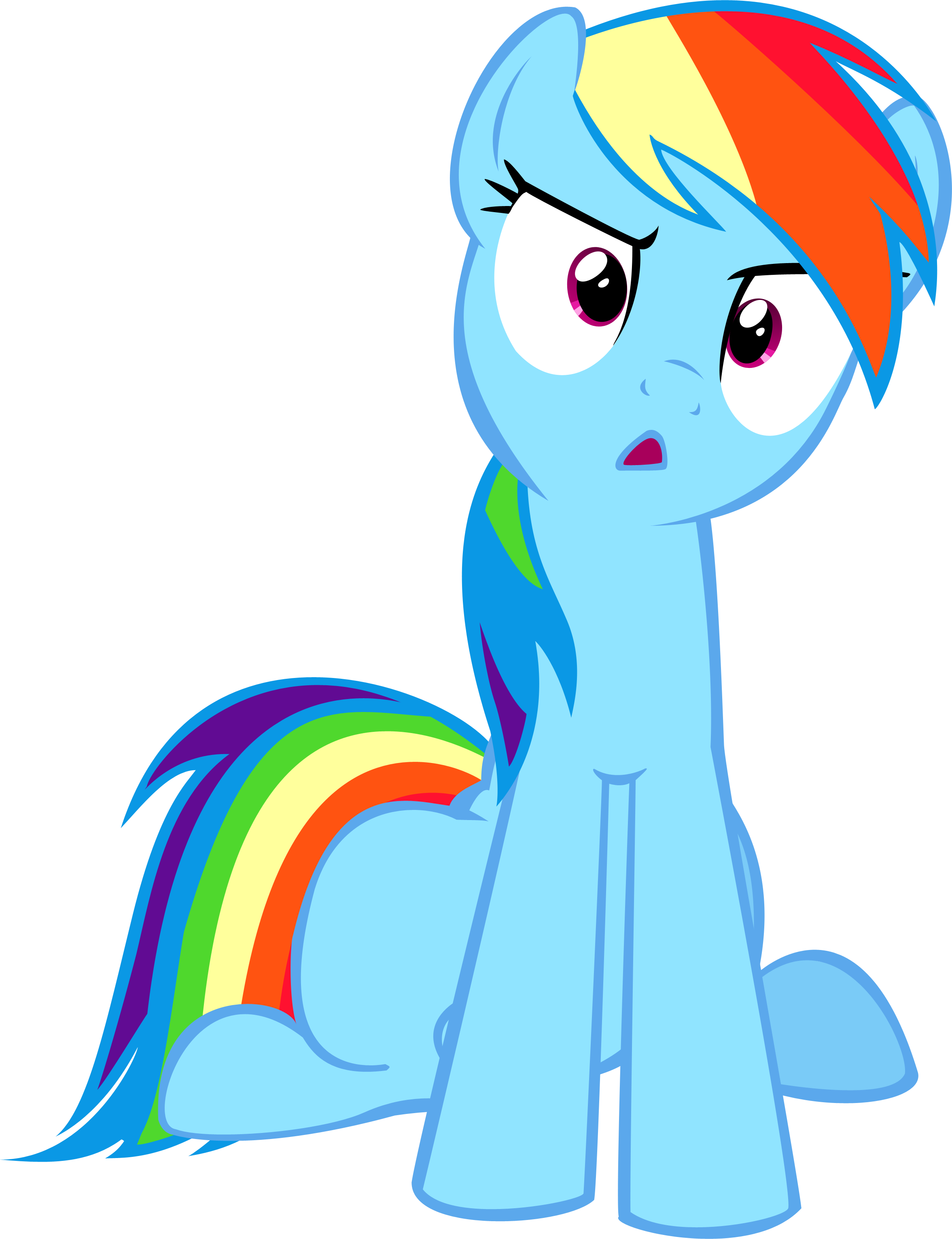 Confused mlp png. Rainbow dash what the