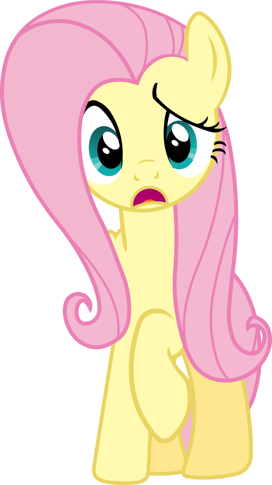 Confused mlp png. Fluttershy confusion by bobthelurker