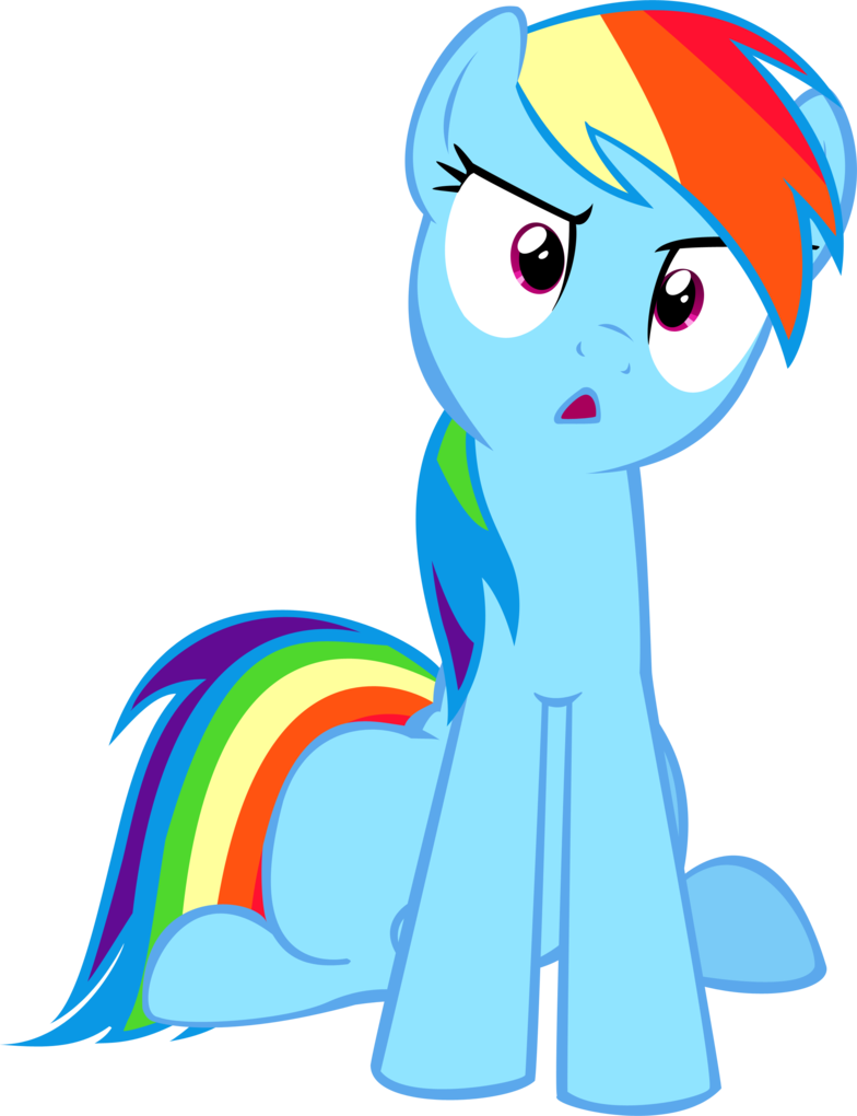 Confused mlp png. Rainbow dash distraught my
