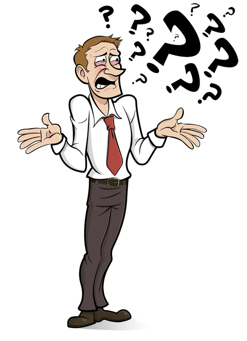Confused guy png. Collection of clipart
