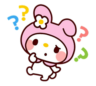 Cute confused sticker png. What wha whtt