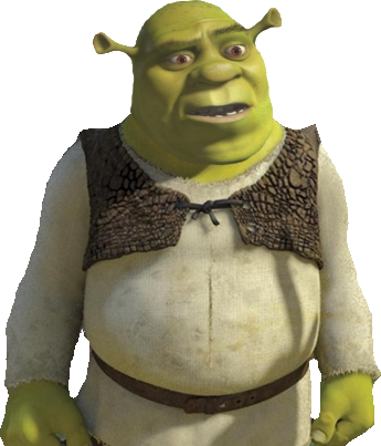 Confused shrek png. Co comics cartoons thread