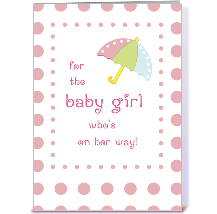 Congratulations baby girl png. Shower greetings card projects