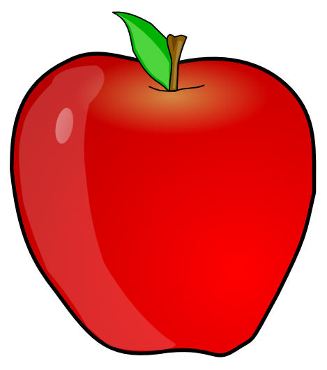 Conical apple. Free cookie monster clipart