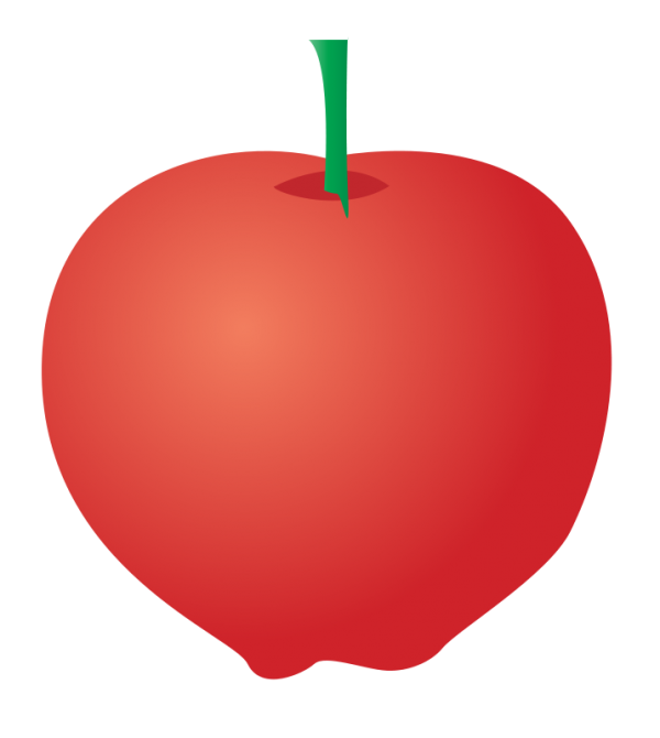 Conical apple. Free clip art with