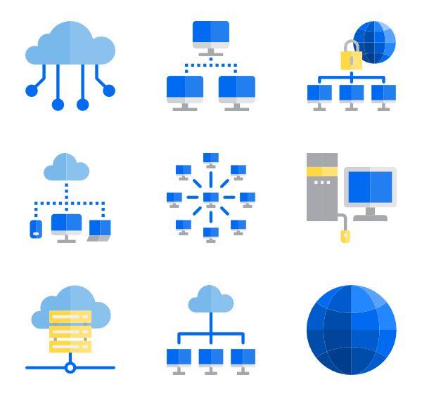 Connection vector. Icons free communication network