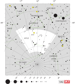 Constellations drawing apus. Wikipedia