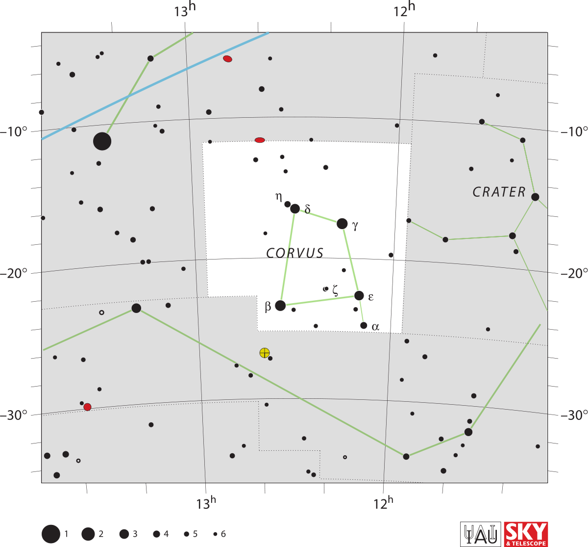 Constellations drawing corvus. Constellation wikipedia