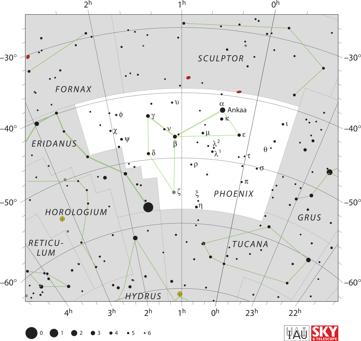 Constellations drawing old. Phoenix constellation wikipedia