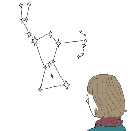 Constellations drawing orion. Constellation dream dictionary interpret