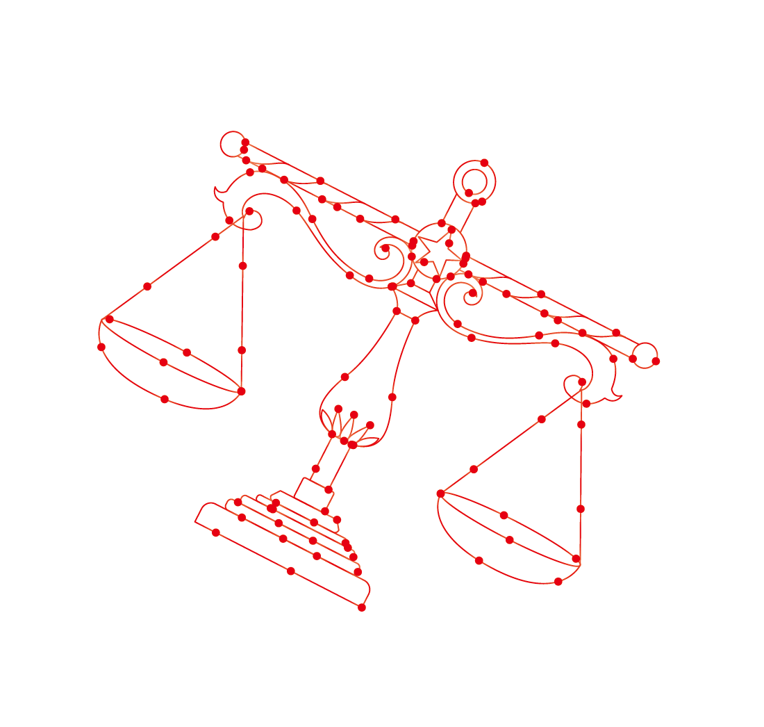 Constellations vector. Libra constellation computer file