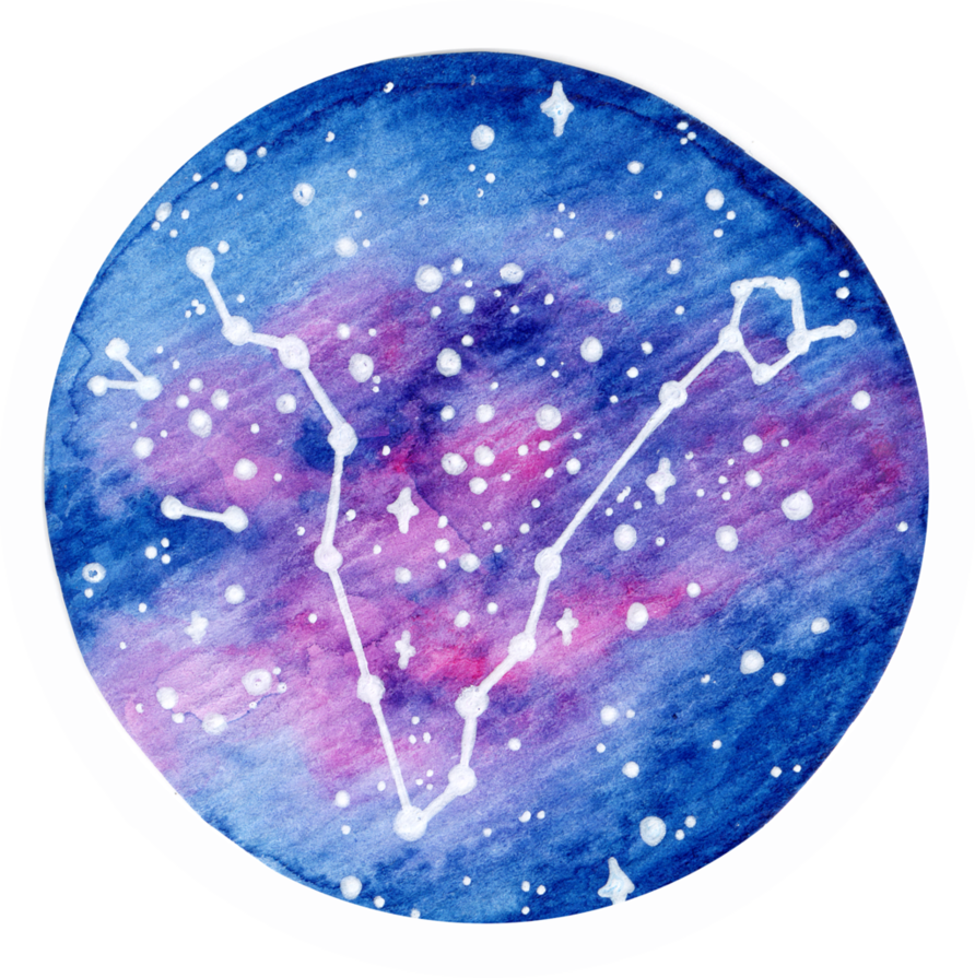 Constellations vector abstract. Pisces constellation by lulireis