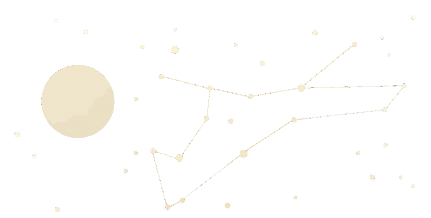 Constellations vector night sky. White pattern transprent png