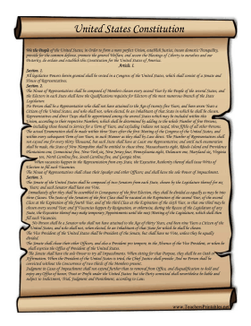 Constitution clipart constitution us. This printable scroll features