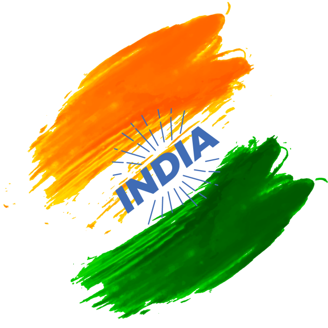 Independence drawing 15 august. India day splash abstract