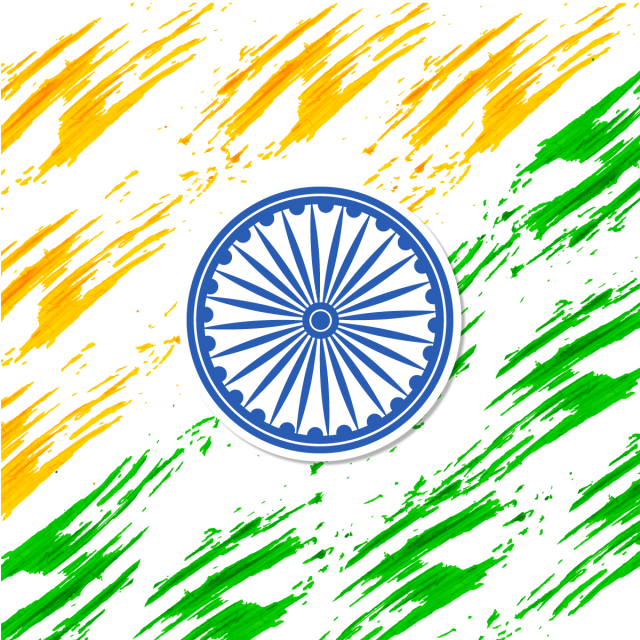 Vector orange background. India independence day abstract