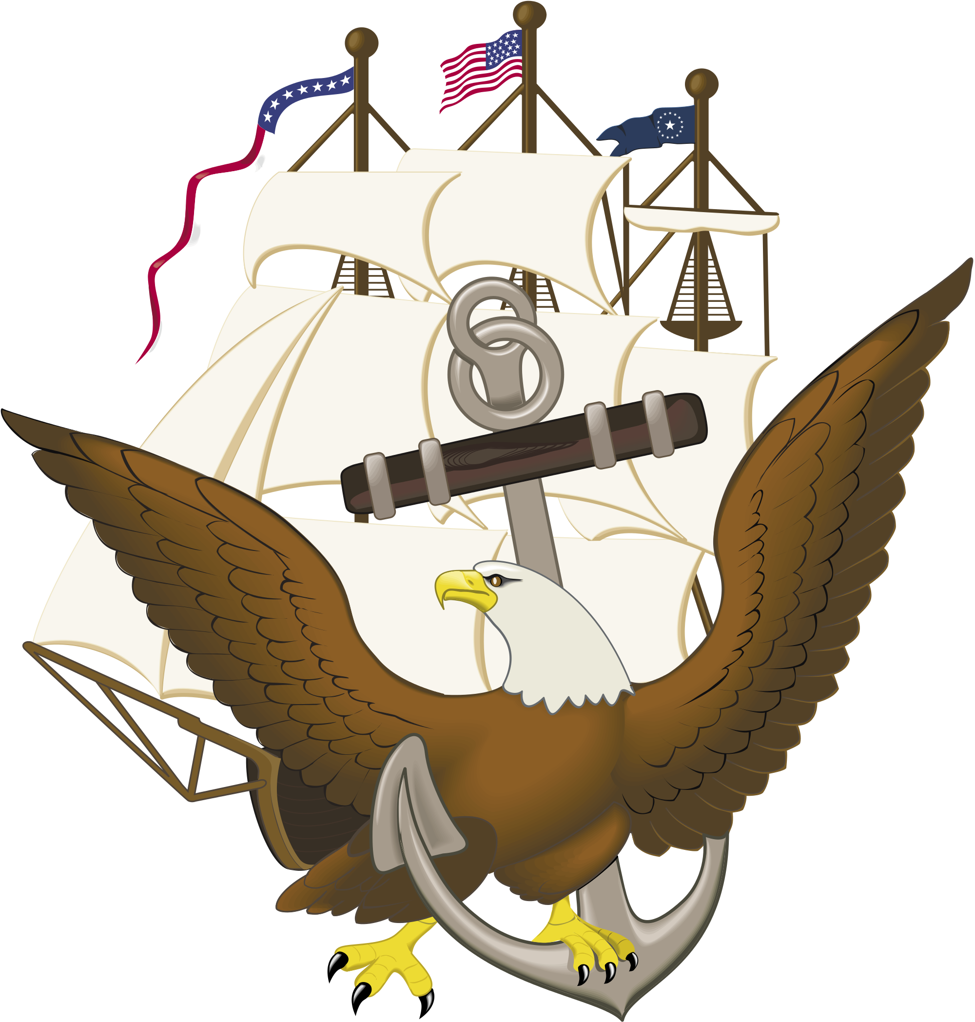 Constitution vector us. File anchor and eagle