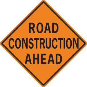 Road ahead clip art. Construction clipart image black and white library