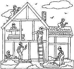 Construction clipart home construction. Miracle of black and