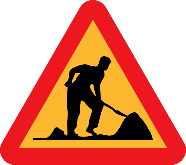 Construction clipart png. Road work under clip