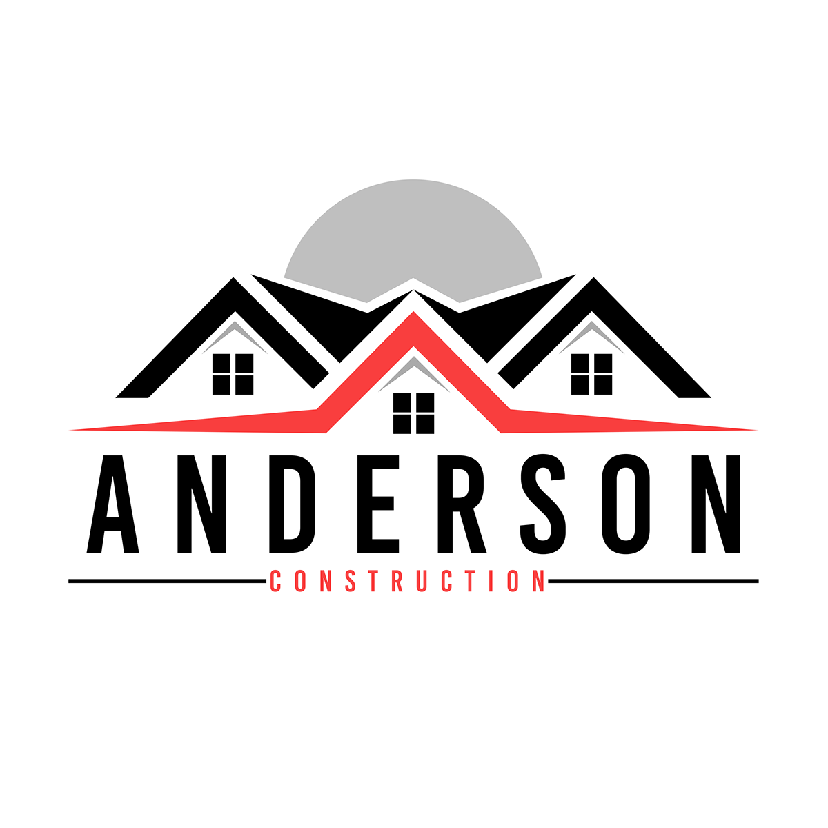 Construction company logo png. Design for a local