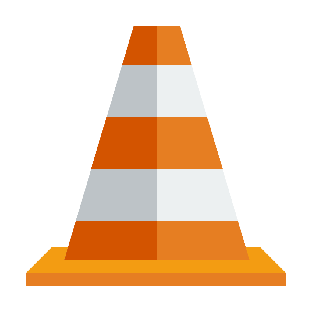Construction cones png. Cone icon small flat