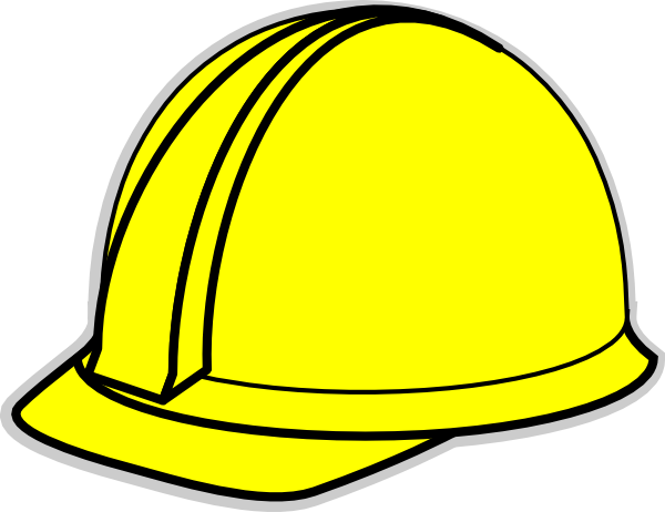 Yellow hard hat clip. Hardhat vector picture library library