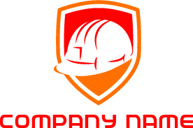 Construction shieldlogo with labels png with. Free shield logos logodesign