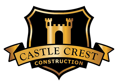 Construction shieldlogo with labels png with. Castle crest constructions logo