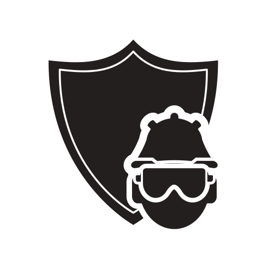 Construction shieldlogo with labels png with. Shield and worker icon