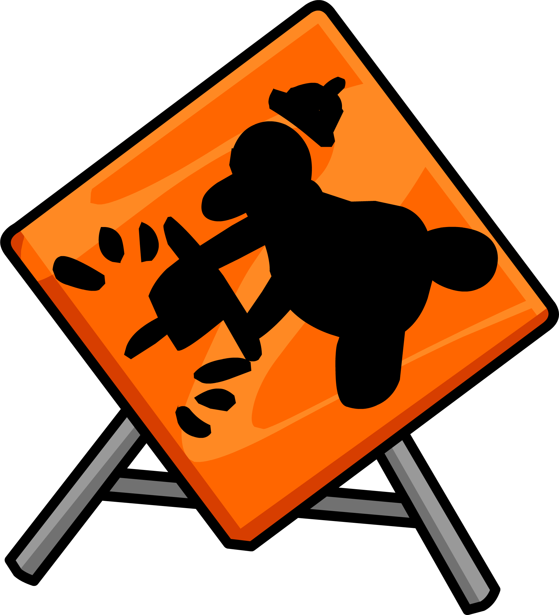 Construction sign png. Image club penguin wiki