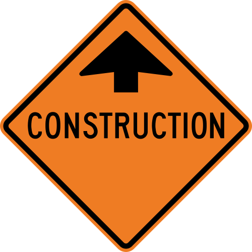 Construction sign png. Ahead