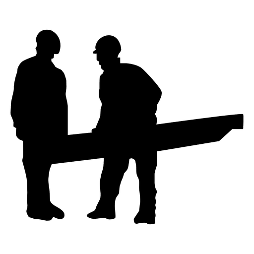 Construction handing silhouette png. Worker vector transparent picture library