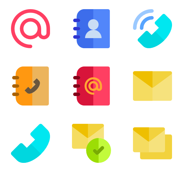 Contact icon png. Packs vector svg