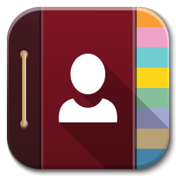 Contacts icon png. Apps flatwoken iconset alecive