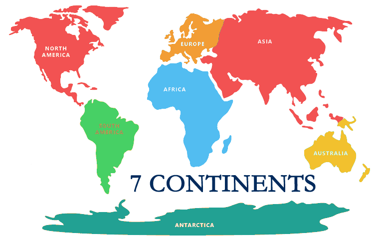 North america continent png. Continents and oceans