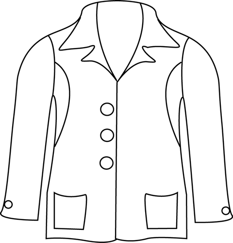 Continental clip jacket. Black and white art