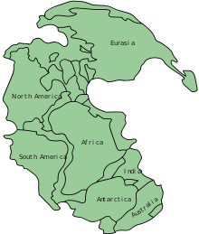 Continental clip modern. Supercontinent cycle wikipedia map