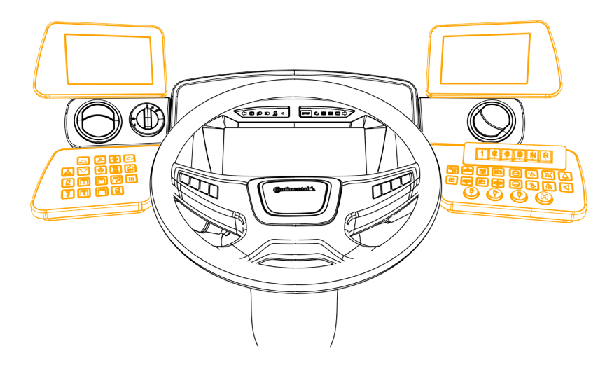 Continental clip traditional. Modular driver s workplace