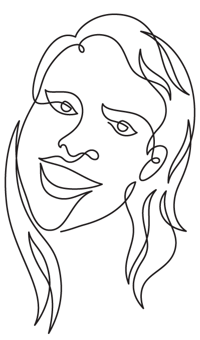 Continuous drawing. Line wire art and